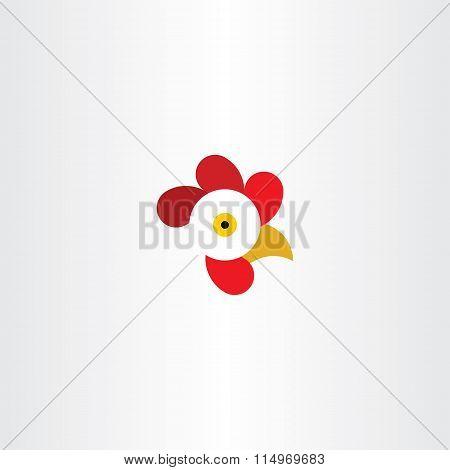 Chicken Or Rooster Head Logo Vector