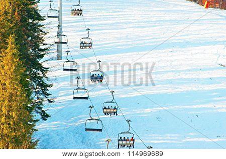 People On A Ski Lfit