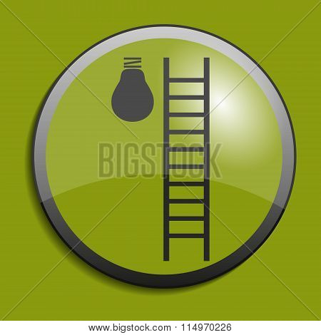 Ladder To Lamp Abstract Icon. Vector