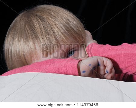 A small child is tired. Fatigue children