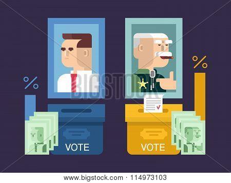 Concept elections design flat