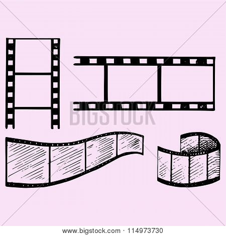 set of film strip