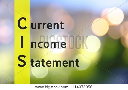 Current income statement