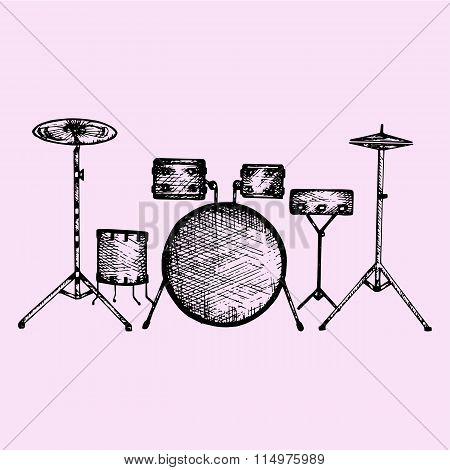 drum kit, set