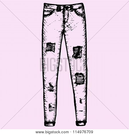 women's jeans, denim trousers