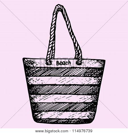 Beach, summer, bag