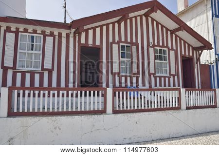 Red Coloured Stripes House