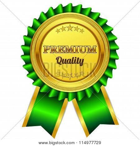 Premium Quality Green Seal, Label Vector Icon