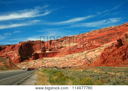 Entrance To Arches National Park