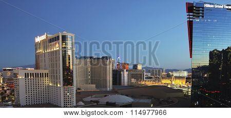 An Aerial View Of Las Vegas Looking North