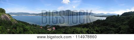 Panoramic overlook from Morro da Lagoa in Florianopolis - Santa Catarina - Brazil