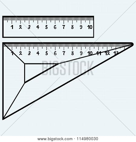 Rulers in millimeters
