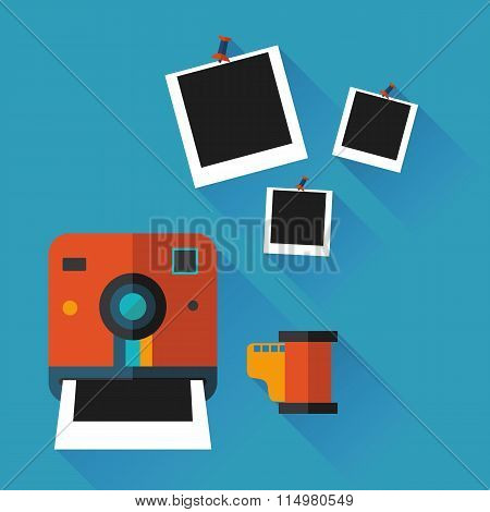 illustration of an instant photo