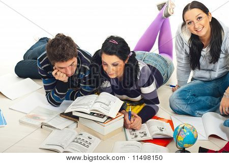 Students Reading Books  Home