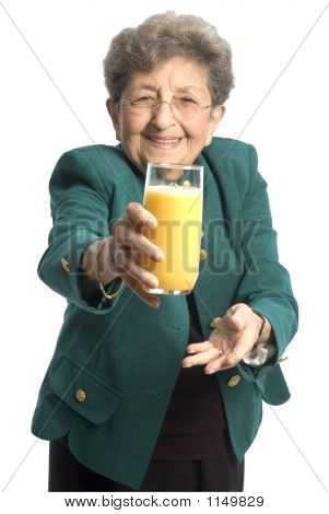 Woman With Juice