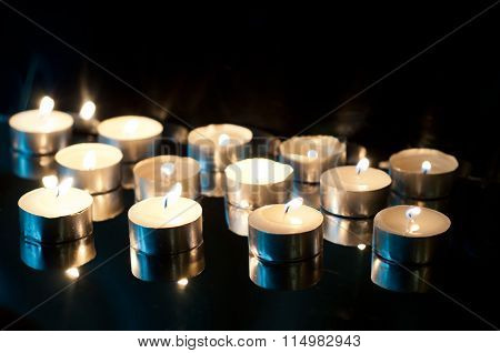 Candles On Black
