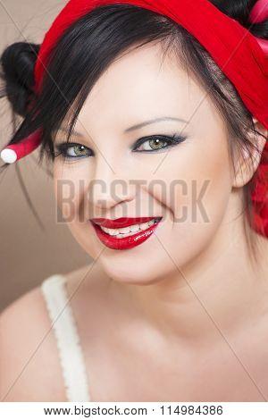 Nice make up on beautiful girl