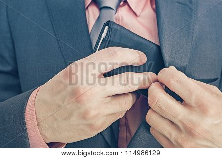 Businessman And His Wallet