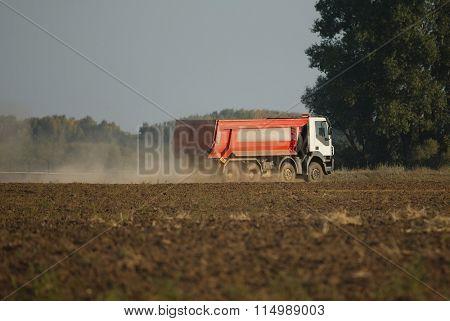 Road construction truck