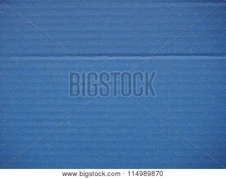 Blue Corrugated Cardboard Background