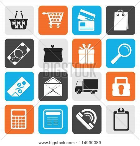 Flat Online shop icons