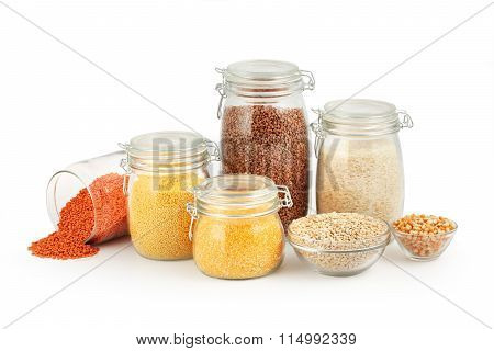 Glass Jars with Grits