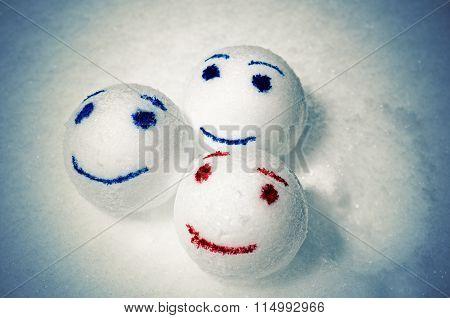 Funny snowballs.