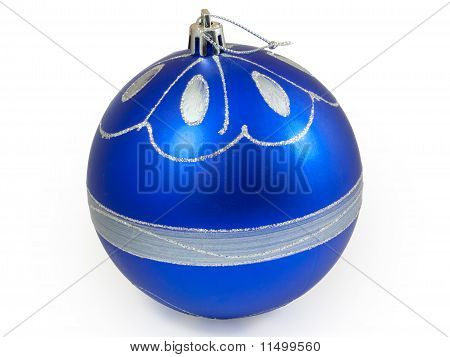 Big Blue Christmas Ball
