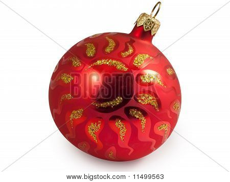 Red Christmas Ball With Sun