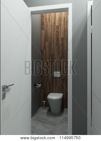 Bathroom modern loft style, 3D render