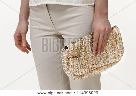 Women Clutch Embroud With Sparkles And Cristall