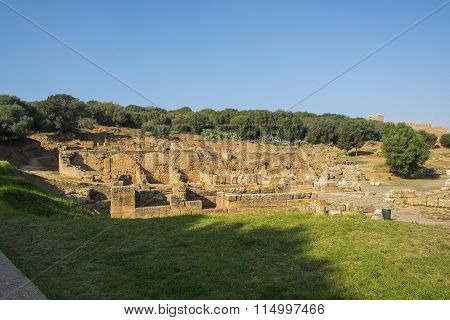 Remains Of Roman City Of Chellah Necropolis. Rabat. Morocco.