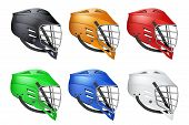 Set of Lacrosse Helmets poster