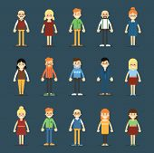 Постер, плакат: People icon set