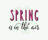 Постер, плакат: Spring Lettering Card
