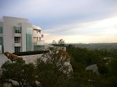 The Getty Museum Overlooking Los Angeles