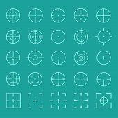 Gun crosshairs vector set poster