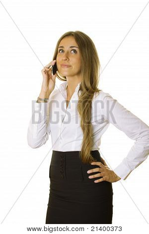 Attractive Business Woman Talking On The Phone
