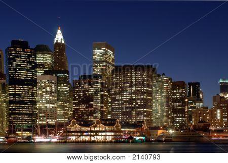 Oeste del horizonte de Nueva York