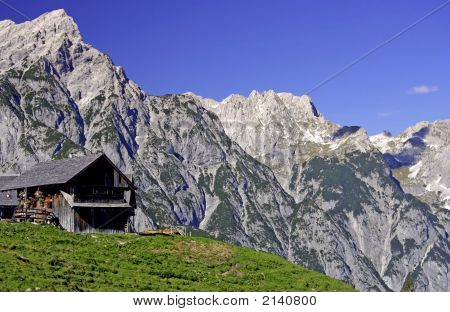 Mountain Scape With Hut