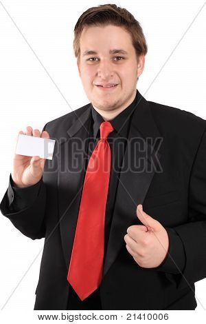 Business Card And Thumbs Up
