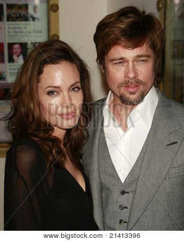 SANTA BARBARA - FEB 2: Angelina Jolie; Brad Pitt at the 23rd Santa Barbara International Film Festival at the Arlington Theater in Santa Barbara, California on February 2, 2008