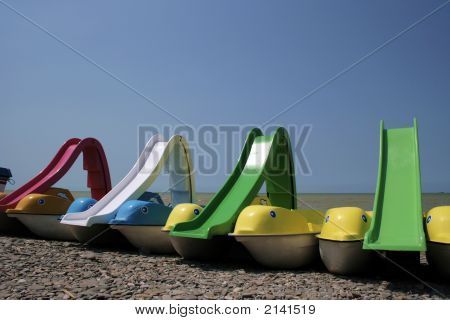 Catamarans On The Beach