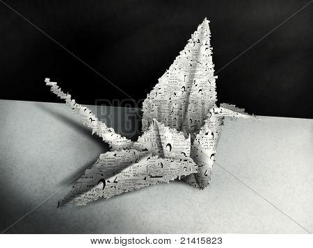 Origami Swan painting
