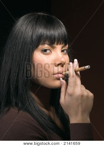 The Girl And A Cigar