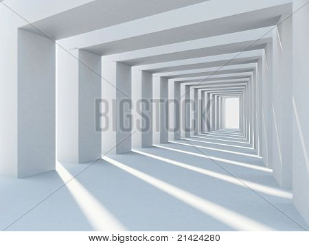 White abstract sunlit columns