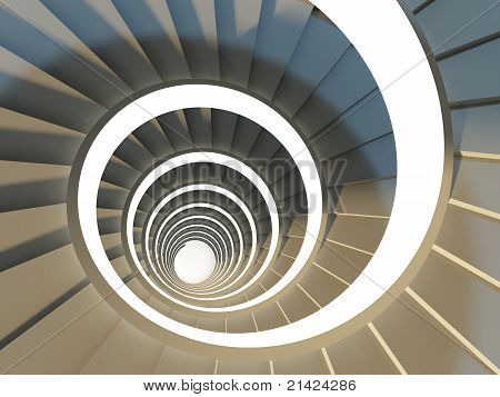 Spiral staircase close-up