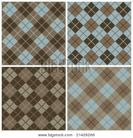 Argyle-plaid Pattern in Blue and Brown