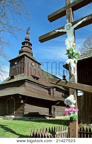 wooden church in Rusky Potok