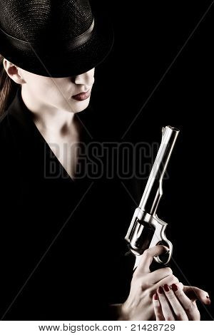 Lady With A Revolver